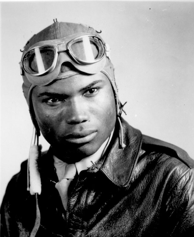 Howard A. Wooten. Graduated December 1944 from Air Corps School, Tuskegee, AL. Ca. December 1944.  18-T-44-K-17.