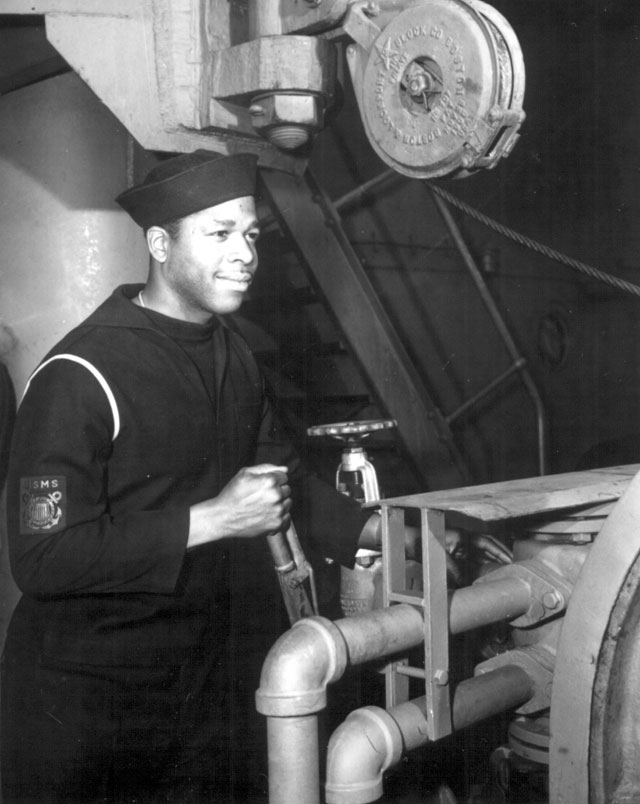 A mariner in the U.S. Maritime Service. N.d. 208-NP-3ZZ-2.