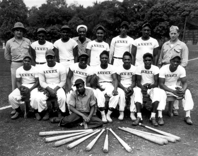 Navy baseball team--Espiritu Santo, New Hebrides. September 1944. 80-G-12396.